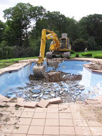 Camden, NJ pool demolition