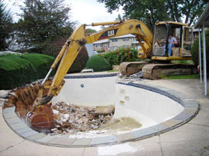 Swimming pool removal in Cherry Hill, NJ
