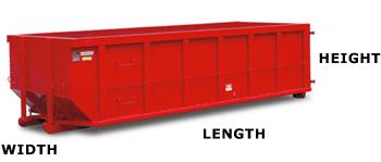 Dumpster sizes at RJM Construction Services